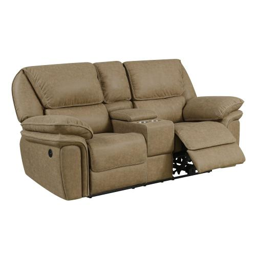 Power Reclining Console Loveseat with USB Charging Ports
