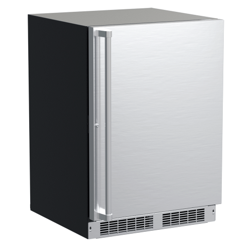 Marvel - 24-In Professional Built-In Refrigerator Freezer with Door Style - Stainless Steel