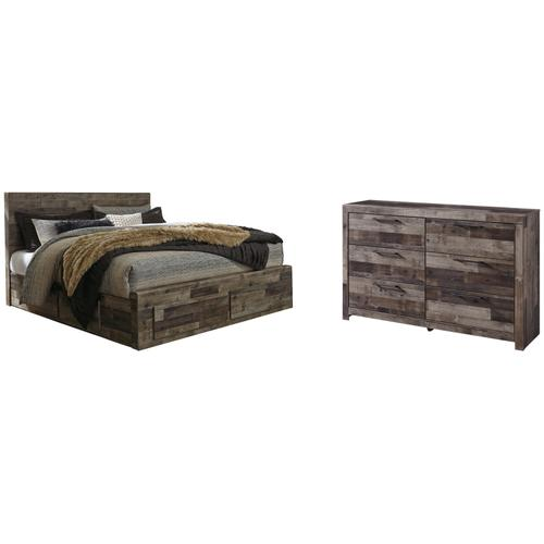 Product Image - King Panel Bed With 4 Storage Drawers With Dresser