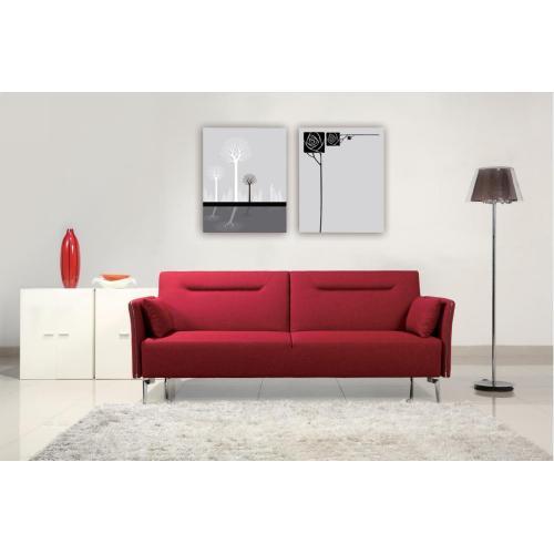 Divani Casa Davenport - Modern Red Fabric Sofa Bed
