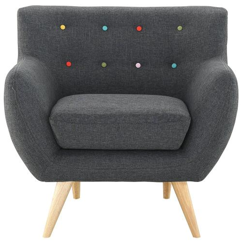 Remark Upholstered Fabric Armchair in Gray