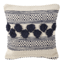See Details - Navy & White Pom Pom Pillow