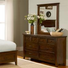 Laurel Creek 6 Drawer Dresser & Mirror in Cinnamon finish  FLOOR SAMPLE CLEARANCE       (461-BR51/31,62739/37)