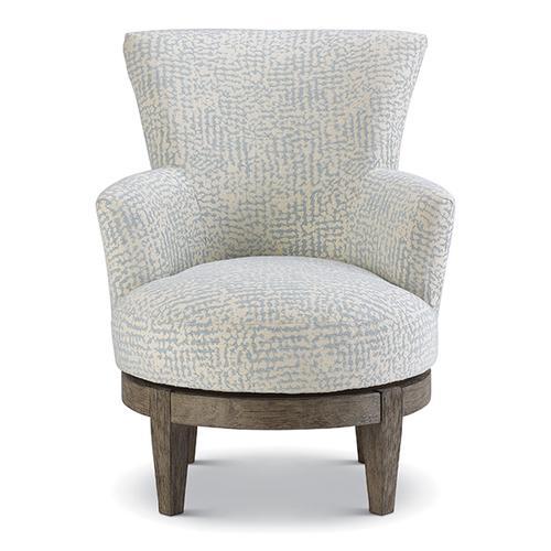 Best Home Furnishings - JUSTINE Swivel Barrel Chair