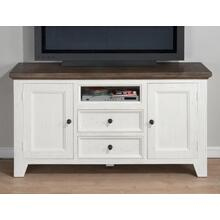 "Nantucket Aged White 60"" Media Unit"