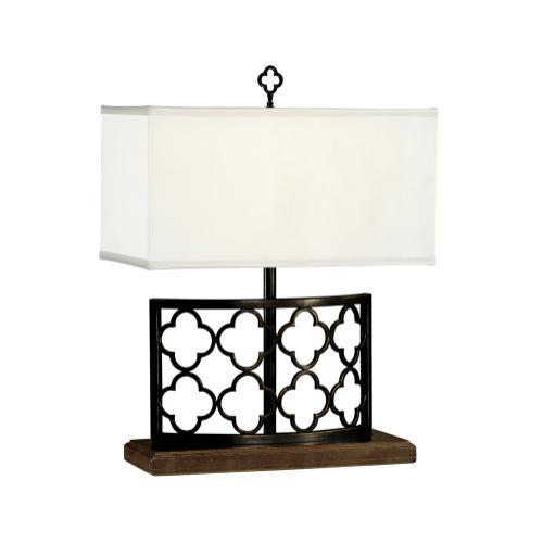 Bronzed Gothic Trellis Table Lamp