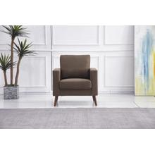 See Details - 8123 BROWN Linen Stationary Basic Chair