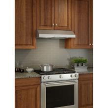Broan® Glacier 30-Inch Convertible Under-Cabinet Range Hood, 375 Max Blower CFM, Stainless Steel