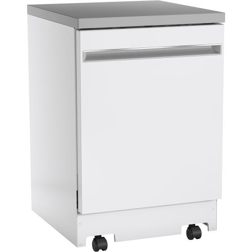 "GE 24"" Portable Dishwasher White - GPT225SGLWW"