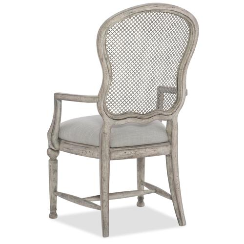 Boheme Gaston Metal Back Arm Chair - 2 per carton/price ea