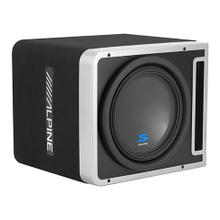 "Single 12"" Alpine Halo S-Series Preloaded Subwoofer Enclosure with ProLink """