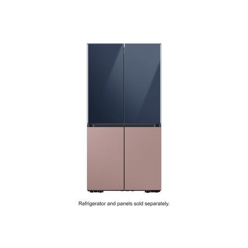 Samsung - BESPOKE 4-Door Flex™ Refrigerator Panel in Navy Glass - Top Panel