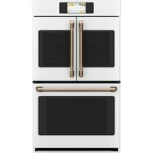 """Café 30"""" Built-In French-Door Double Convection Wall Oven Matte White"""