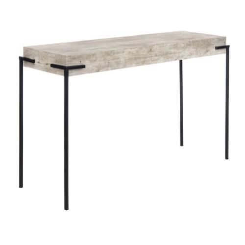 Safavieh - Eli Rectangle Console Table - Light Grey/black