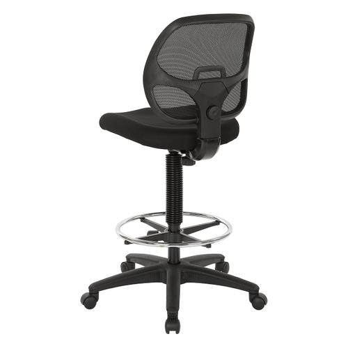 "Deluxe Mesh Back Drafting Chair With 18"" Diameter Foot Ring"