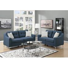 Alheri 2pc Loveseat & Sofa Set, Navy