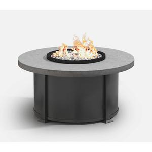 "42"" Round Coffee Fire Pit Ht: 19"" Valero Aluminum Base (Top Color: Drift Frame Finish: Carbon)"