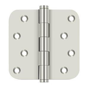 """4"""" x 4"""" x 5/8"""" Radius Hinge / Zig-Zag - Polished Nickel"""