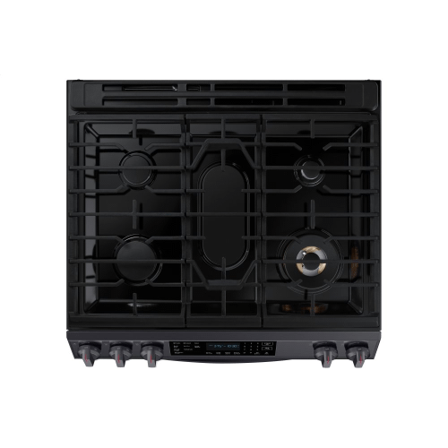 6.0 cu. ft. Gas Range with True Convection and Air Fry in Black Stainless Steel