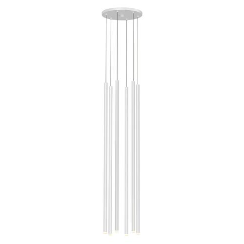 "Sonneman - A Way of Light - Light Chimes LED Pendant [Size=6-Light 32"", Color/Finish=Satin White]"