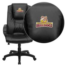 Brooklyn College Bulldogs Embroidered Black Leather Executive Office Chair