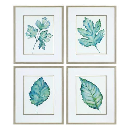 Uttermost - Spring Leaves Framed Prints, S/4
