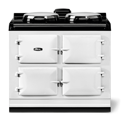 """Gallery - AGA classic 39"""" Dual Control Electric-Only Model, White"""