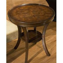 See Details - Pecan Round Side Table