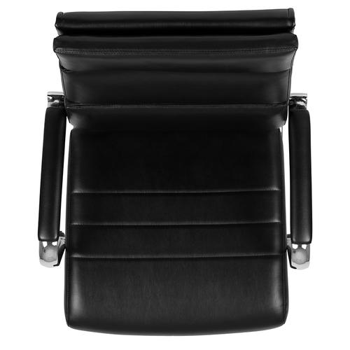 Gallery - High Back Black LeatherSoft Contemporary Panel Executive Swivel Office Chair