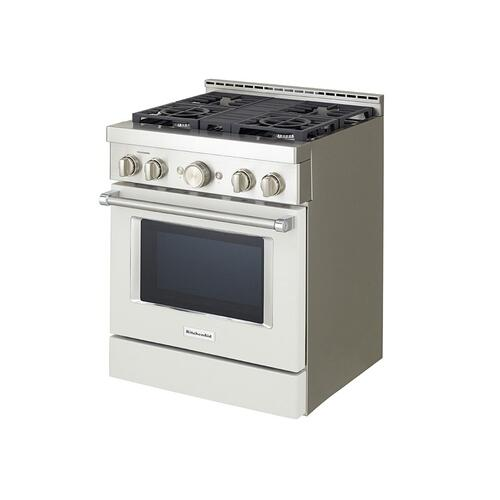 KitchenAid® 30'' Smart Commercial-Style Gas Range with 4 Burners - Milkshake