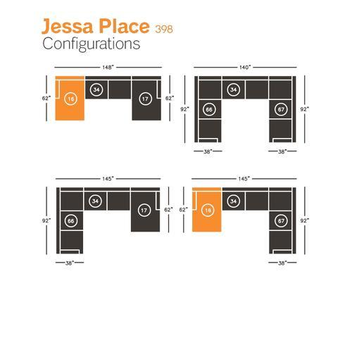 Jessa Place Left-arm Facing Corner Chaise