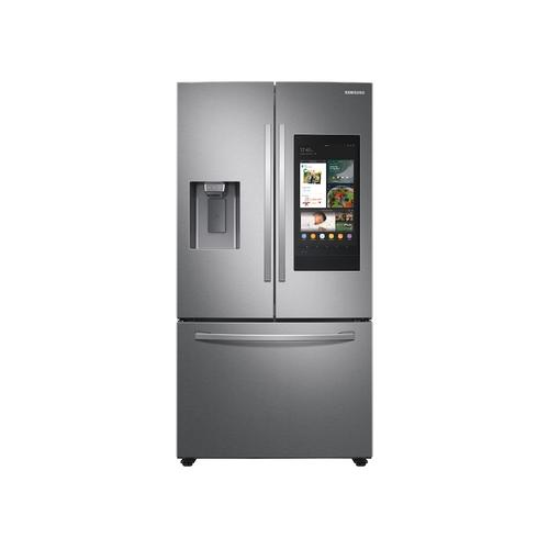 26.5 cu. ft. Large Capacity 3-Door French Door Refrigerator with Family Hub™ and External Water & Ice Dispenser in Stainless Steel