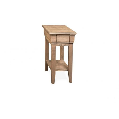 - Monticello Chair Side Table with Shelf and 1 Drawer