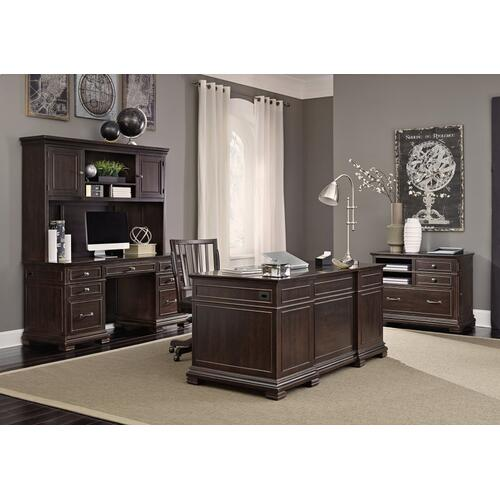 "66"" Executive Desk w/Power"