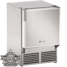 "Stainless 220V, No flange, Field reversible 14"" Under-Counter Marine Ice Maker with 12 lb. Ice Capacity / Stainless Steel"