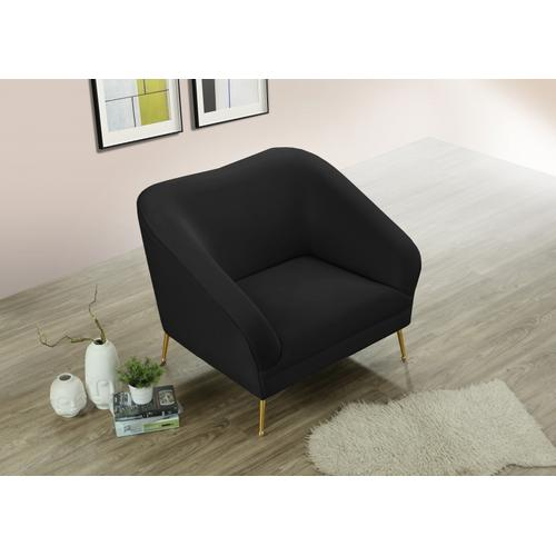 "Hermosa Velvet Chair - 42.75"" W x 34.5"" D x 34.25"" H"