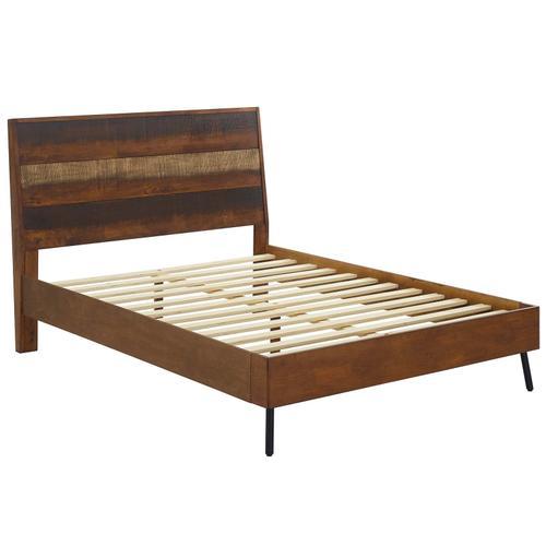 Arwen Queen Rustic Wood Bed in Walnut