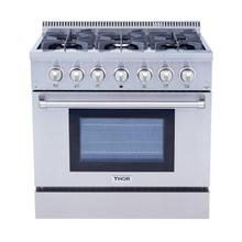 36 Inch Professional Dual Fuel Range In Stainless Steel - Liquid Propane
