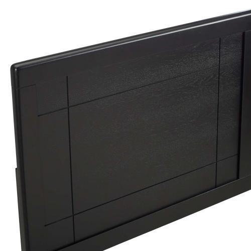 Archie Twin Wood Headboard in Black