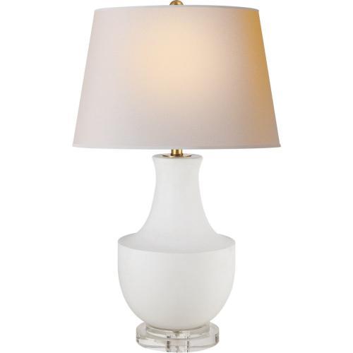 Visual Comfort CHA8642WHT-NP E. F. Chapman Arc Pot 29 inch 150 watt Plaster White Decorative Table Lamp Portable Light