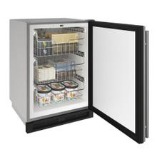"""See Details - 1000 Series 24"""" Outdoor Convertible Freezer With Stainless Solid Finish and Field Reversible Door Swing (115 Volts / 60 Hz)"""