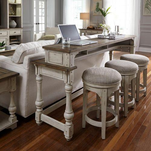 Liberty Furniture Industries - 4 Piece Console Set (1-Console 3-Stools)