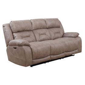 Aria Dual Power Recliner Sofa, Desert Sand