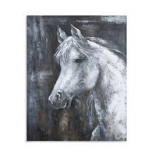 Rustic White Horse