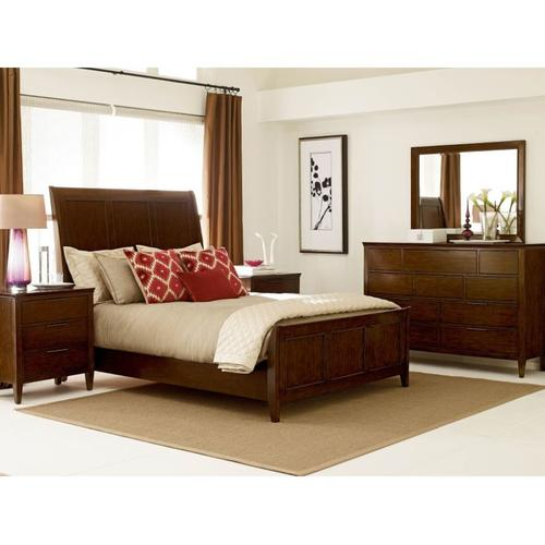 Caris Sleigh King Bed - Complete
