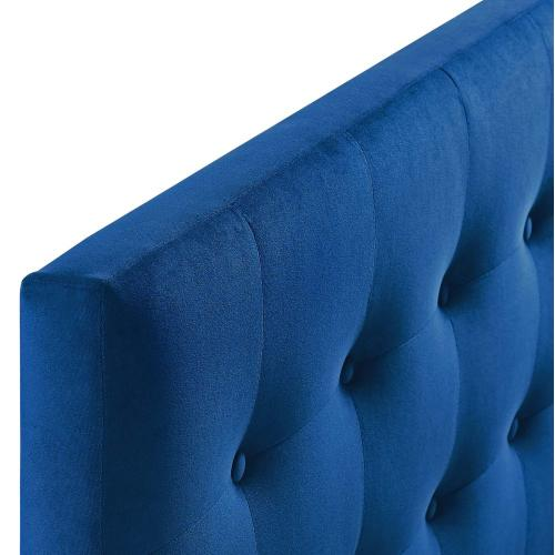 Modway - Emily King Biscuit Tufted Performance Velvet Headboard in Navy