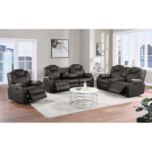 Porter International Designs - Dorado Gray Reclining Sofa, Loveseat & Chair, M9730