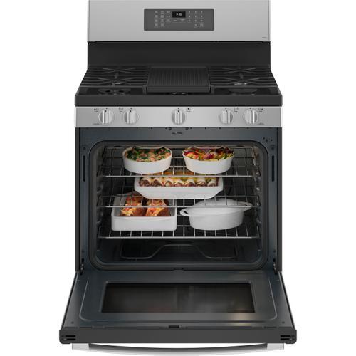 "GE Appliances - GE Profile™ 30"" Free-Standing Self Clean Dual-Fuel Fingerprint Resistant Range with Storage Drawer"