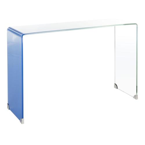 Safavieh - Crysta Ombre Glass Console Table - Clear / Blue