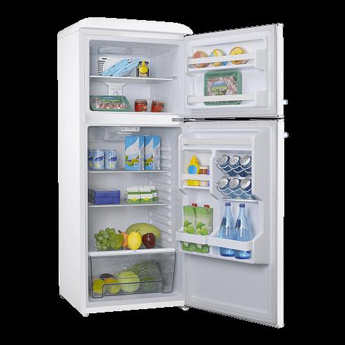 Galanz 10 Cu Ft Retro Top Mount Refrigerator in Milkshake White